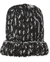 Eugenia Kim - Elaine Two-tone Metallic Knit Hat - Lyst