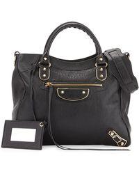 Balenciaga - Classic Metallic Edge Velo Aj Shoulder Bag - Lyst
