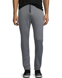 Ferragamo - Men's Heathered-knit Cotton Sweatpants - Lyst