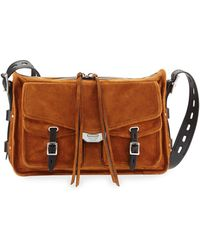 b54011d4a8 Henry Beguelin Suede Messenger Bag Gray in Brown for Men - Lyst