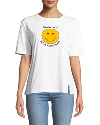Kule - Have A Nice Day Graphic Crewneck Tee - Lyst