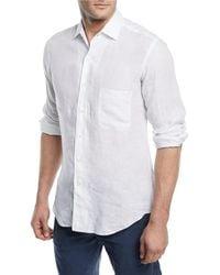 Loro Piana - Andrew Long-sleeve Linen Shirt - Lyst