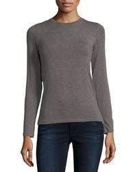 Neiman Marcus - Soft Touch Crewneck Top - Lyst