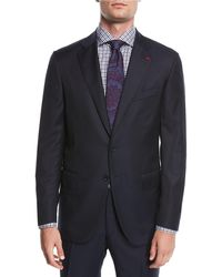 Isaia - Solid Wool Two-piece Suit - Lyst
