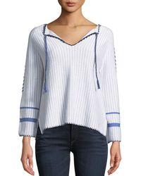 Lisa Todd - Escape Tie-front Sweater - Lyst