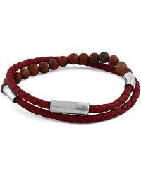 Tateossian - Men's Beaded Leather Wrap Bracelet - Lyst