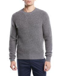 Neiman Marcus - Men's Cashmere/nylon Crewneck Sweater - Lyst