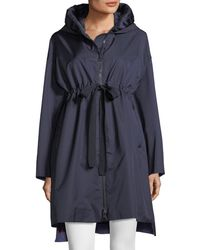 Moncler - Aigue Self-tie Trench Coat W/ Hood - Lyst