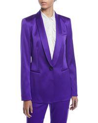 ESCADA - Jewel One-button Shawl-collar Duchess Satin Jacket - Lyst