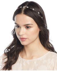 Jennifer Behr - Crystal Flower Circlet Headband - Lyst