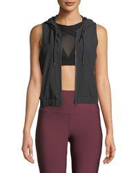 Alo Yoga - Frame Hooded Mesh Activewear Vest - Lyst