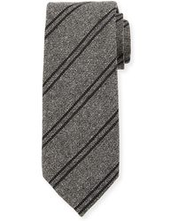 Tom Ford - Textured Striped Silk/wool Tie - Lyst