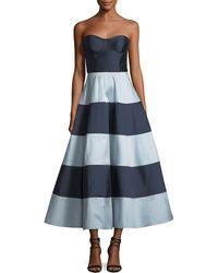 Sachin & Babi - Nessa Strapless Striped A-line Cocktail Dress - Lyst