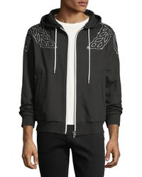 MCM - Laurel-embroidered Zip-front Hoodie - Lyst