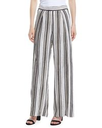 2204e37aef40 Cupcakes And Cashmere - Avah Striped Split Wide-leg Pants - Lyst