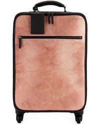 Brunello Cucinelli - Glitter Leather And Monili Trolley Bag Luggage - Lyst
