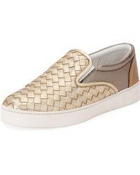 Bottega Veneta | Intrecciato Leather Skate Sneaker | Lyst