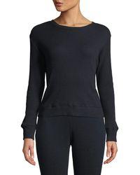 Enza Costa - Cashmere Long-sleeve Thermal Sweatshirt - Lyst