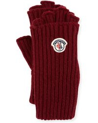Moncler - Guanti Logo Patch Fingerless Gloves - Lyst