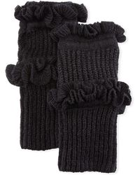 Rebecca Minkoff - Ruffled Knit Fingerless Gloves - Lyst