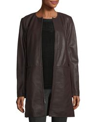 Neiman Marcus - Leather Topper - Lyst