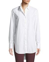 Rag & Bone - Nightingale High-low Button-front Shirt - Lyst