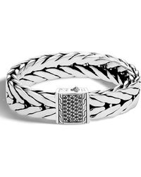 John Hardy - Men's Extra-large Modern Chain Bracelet With Black Sapphire - Lyst