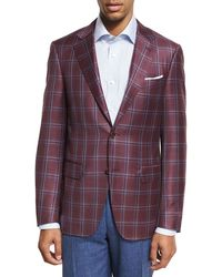 Canali - Plaid Wool Two-button Sport Coat - Lyst