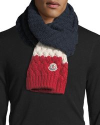 Moncler | Tricolor Knit Wool-blend Scarf | Lyst