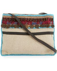Ále By Alessandra - Calista Beaded & Embellished Beach Crossbody Bag - Lyst