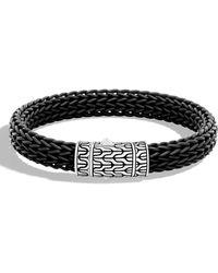 John Hardy - Men's Classic Chain Rubber Push-clasp Bracelet - Lyst