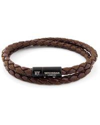 Tateossian | Chelsea Double-wrap Braided Bracelet | Lyst