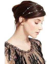 48c3a5e5136a Jennifer behr Crystal Venus Circlet Headpiece in Metallic