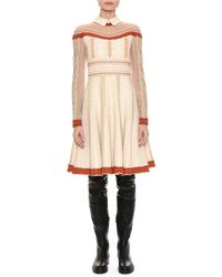 Valentino - Crepe Couture Beaded Tulle Dress - Lyst