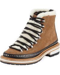 Rag & Bone - Compass Mixed Media Hiker Boots - Lyst