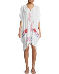 Johnny Was - Tillson Embroidered Georgette Drama Caftan - Lyst