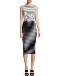 Bailey 44 - Rabbit Hole Striped Midi Dress - Lyst