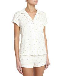 Eberjey - Giving Palm Short Pajama Set - Lyst