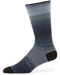 Neiman Marcus - Men's Fleur Dots Cotton Socks - Lyst