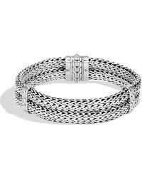 John Hardy - Men's Classic Chain Stacked Bracelet - Lyst