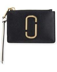 Marc Jacobs - Colorblock Top Zip Card Case Wallet - Lyst