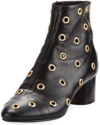 Isabel Marant - Danay Studded Block-heel Bootie - Lyst