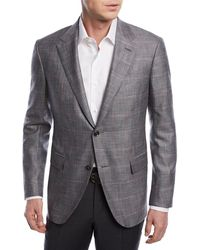 Ermenegildo Zegna - Windowpane Wool-blend Jacket - Lyst