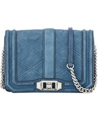 Rebecca Minkoff - Love Small Quilted Nubuck Leather Crossbody Bag - Lyst