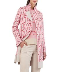Akris - Open-front Reversible Striped Cashmere Knit Cardigan Coat - Lyst