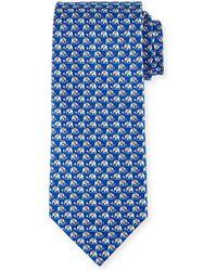 Ferragamo - Elephant & Cotton Candy Silk Tie - Lyst