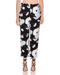 Marni - Floral-print Straight-leg Pajama Silk Pant - Lyst
