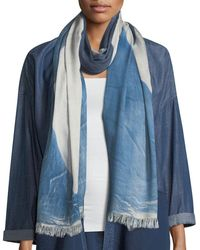 Eileen Fisher - Colorfields Maltinto Fringed-end Scarf - Lyst
