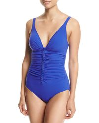 Gottex - Tutti Frutti V-neck One-piece Swimsuit - Lyst