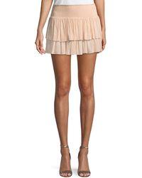 Ramy Brook - Sibyl Smocked Two-tier Mini Skirt - Lyst